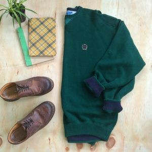 Green 90s Vintage Tommy Hilfiger Crew Neck Sweater